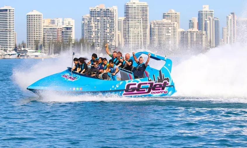 jet boating on the gold coast with kids