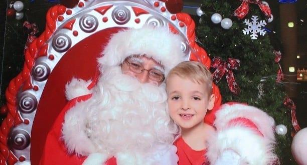 Santa Claus cuddles