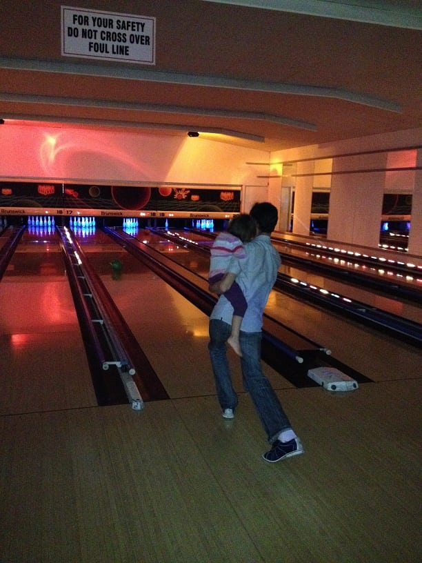 Things to do with 3 Year Olds bowling