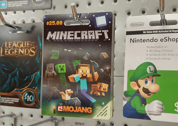 Can you buy the computer minecraft with a itunes giftcard?