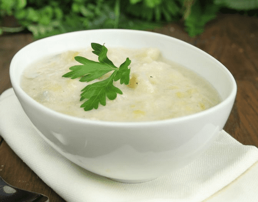 easy Leek and potato soup recipe