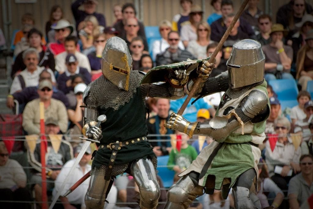 Game of Thrones Swordfighting at the abbey medieval festival