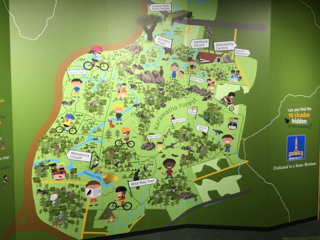 karawatha forest walking track map