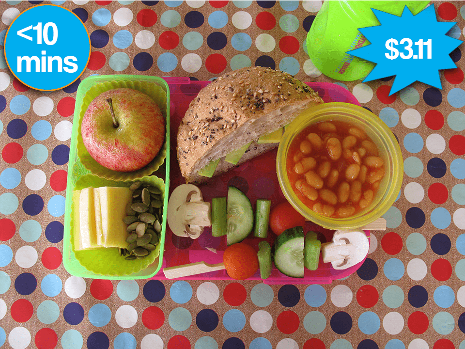A lunchbox filled with healthy snacks