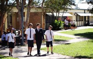 Bribie island state high school students