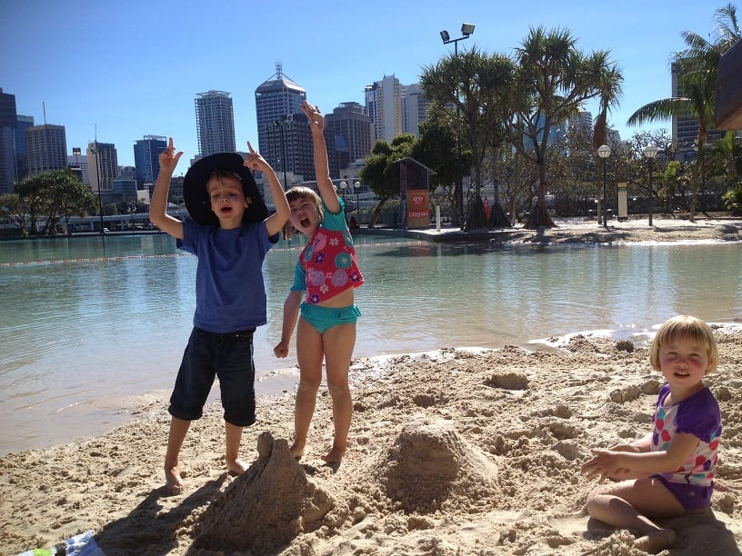 Streets Beach South Bank Brisbane - safe day trips Brisbane