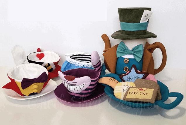 Handmade quirky tea sets
