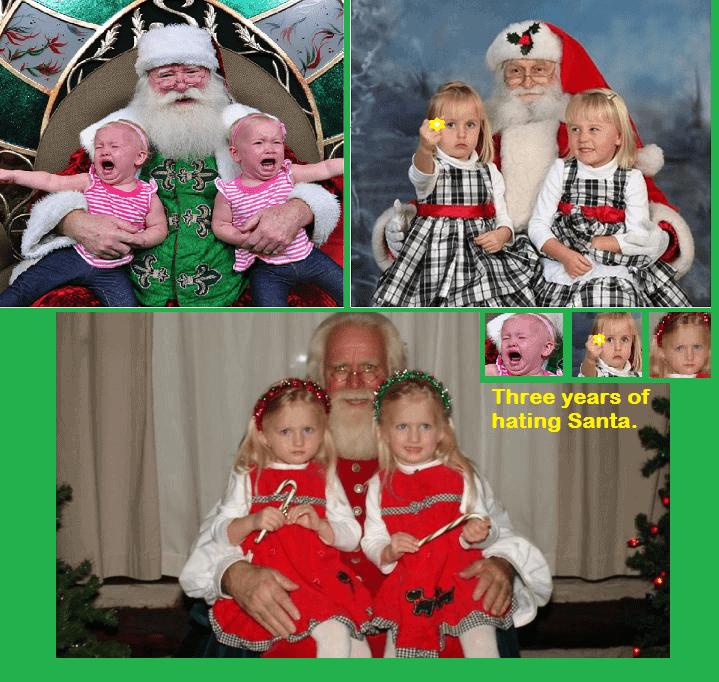 Annual Santa Clause Fail Photo