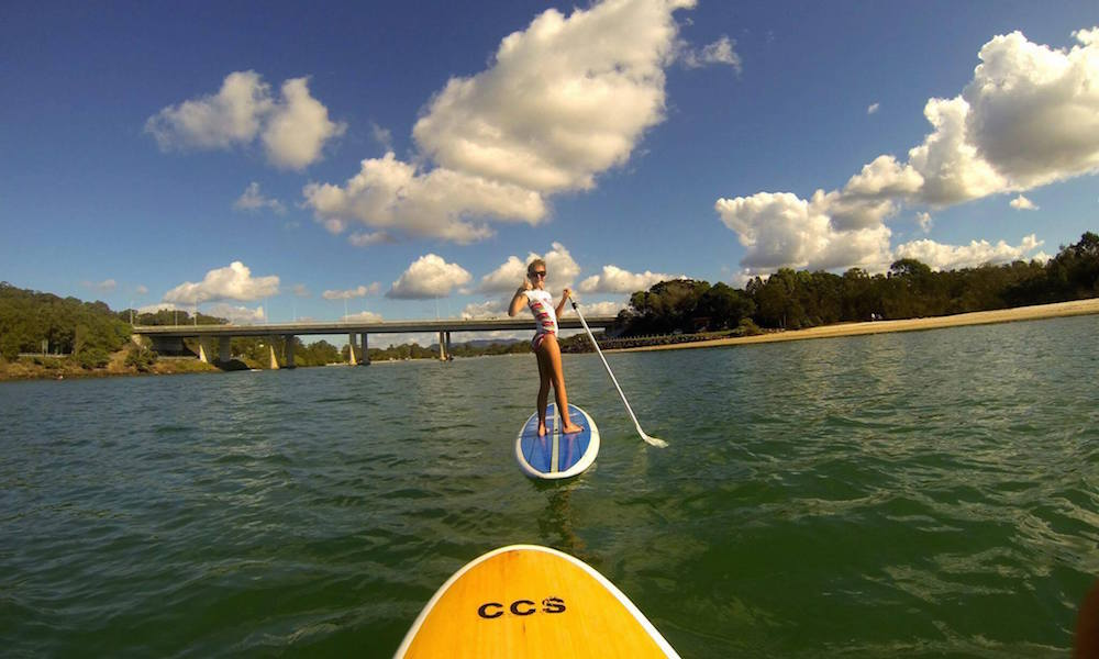 Stand Up Paddleboarding at Currumbin Creek