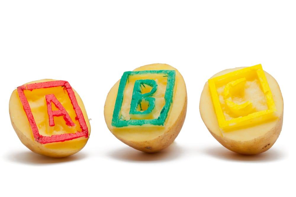 Potato stamps activity