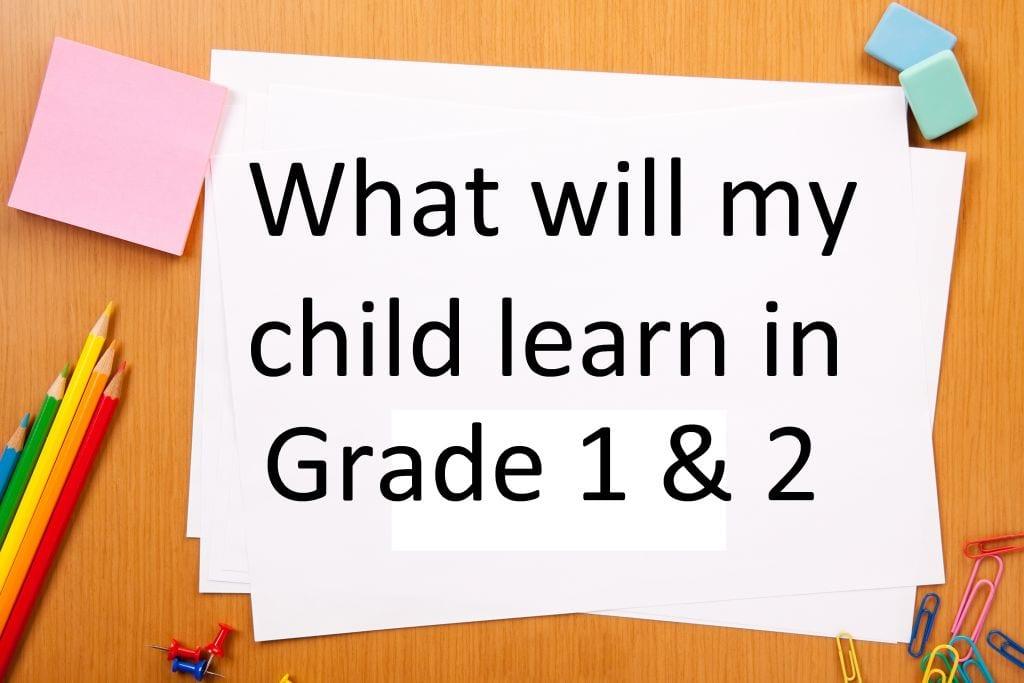 grade 1 and 2 curriculum