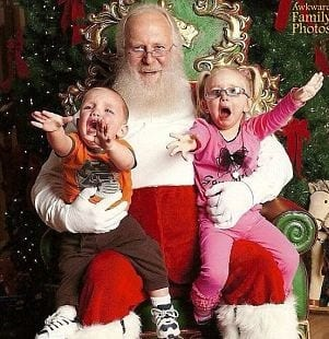 Santa with hating twins
