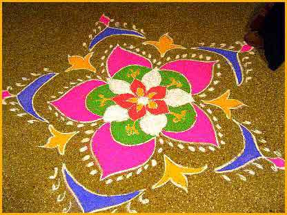 Make a Diwali Rangoli