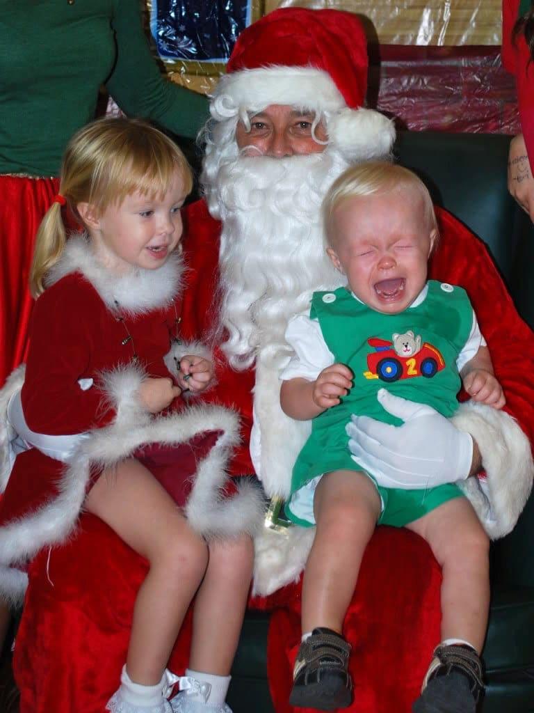 Santa Photo Fail - Pee
