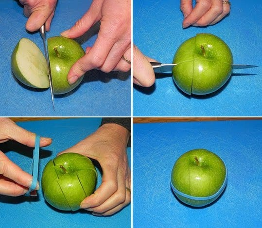 Lunch box hacks with apples