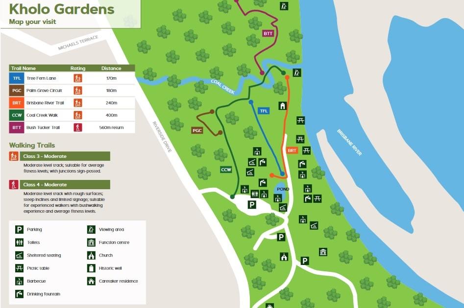 Map of Kholo Botanical Gardens