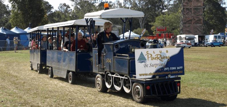 pine rivers show train ride