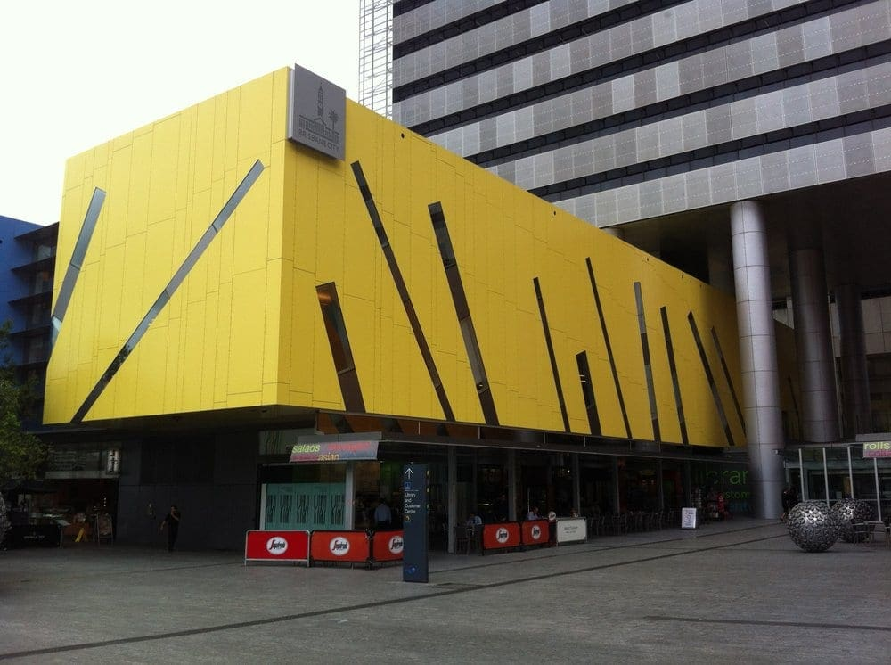 The facade of Brisbane Square Library