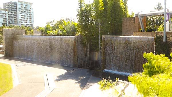 Roma Street Parkland Waterfall