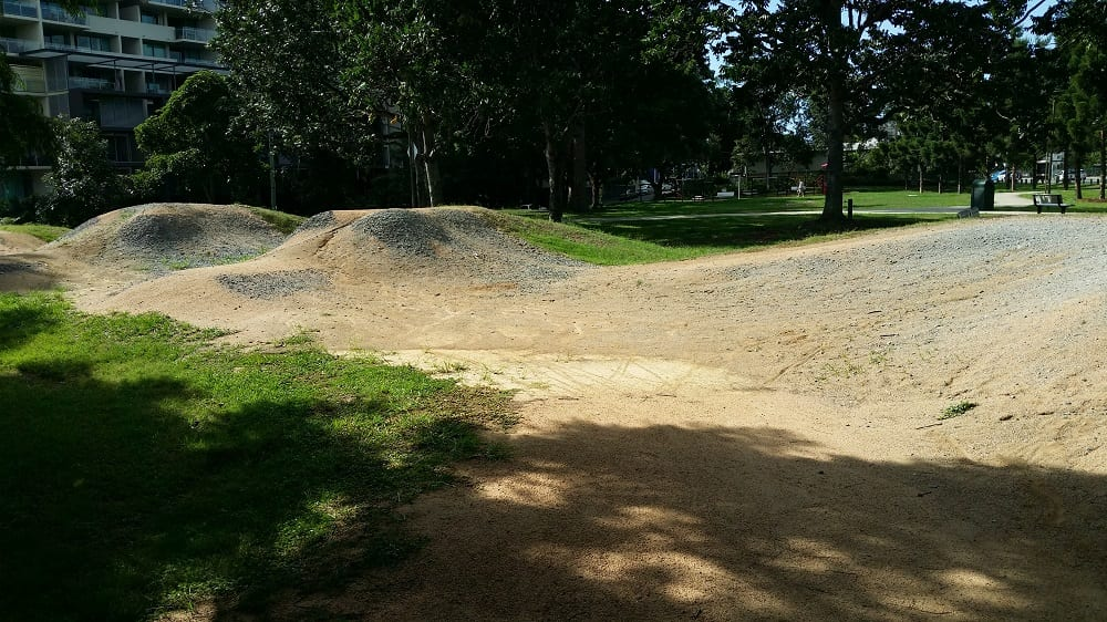 Ross Park BMX Track STunt jumps