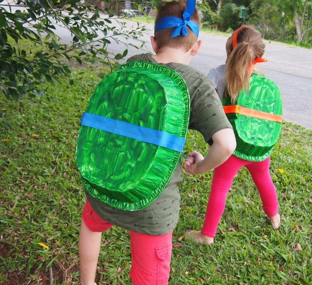 No sew fancy dress Ninja Turtle