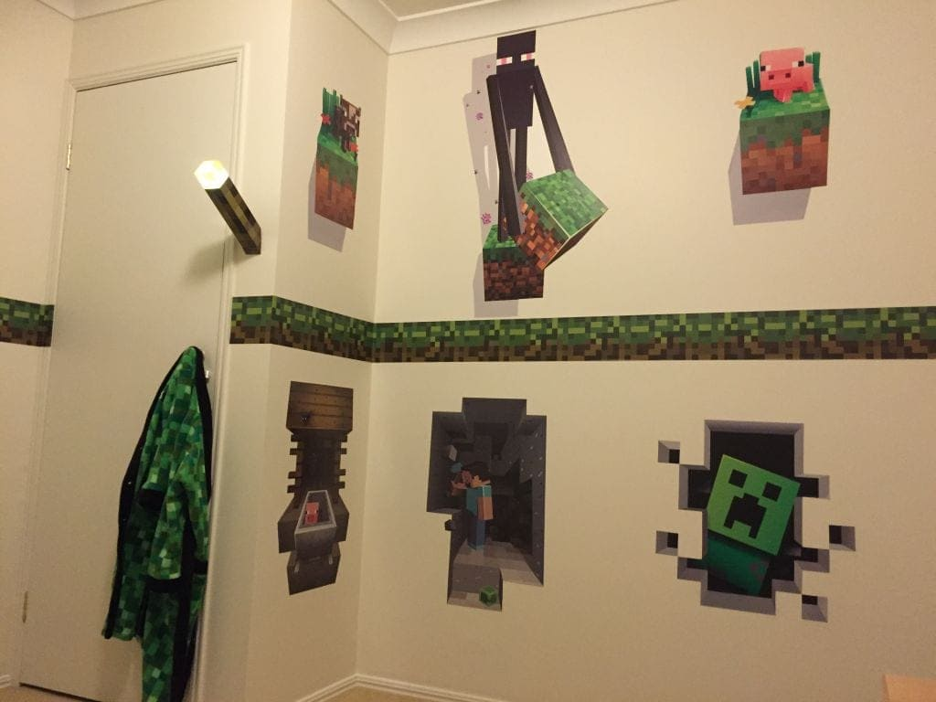 minecraft bedroom design