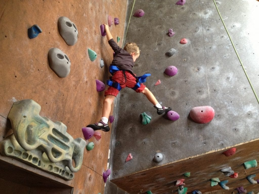 rock climbing will tire kids out