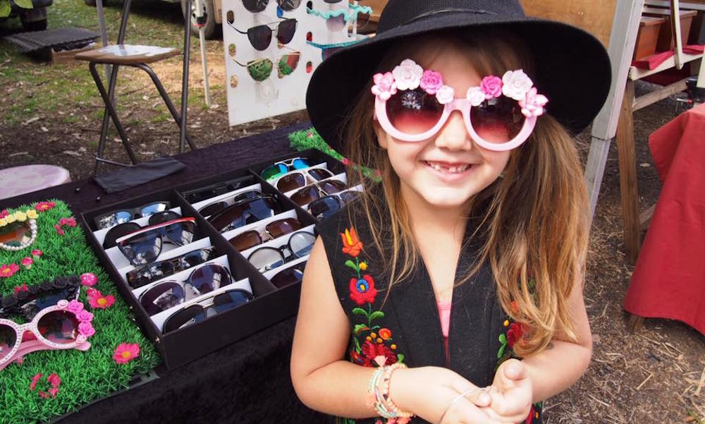 Bangalow Markets Market Stand of Sunglasses