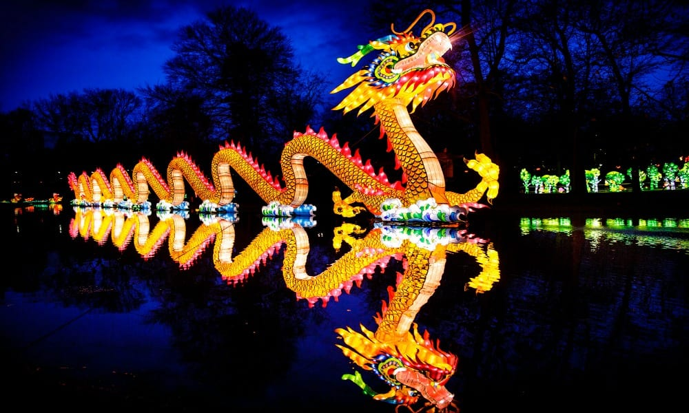 The Gold Coast Festival of Lights.- dragon