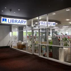 The entrance of Indooroopilly Library