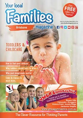 Issue 18 of Families Magazine Brisbane, front cover