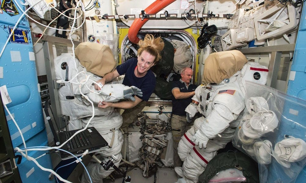 Astronauts Kate Rubins and Jeff Williams Prepare for a Spacewalk.jpg