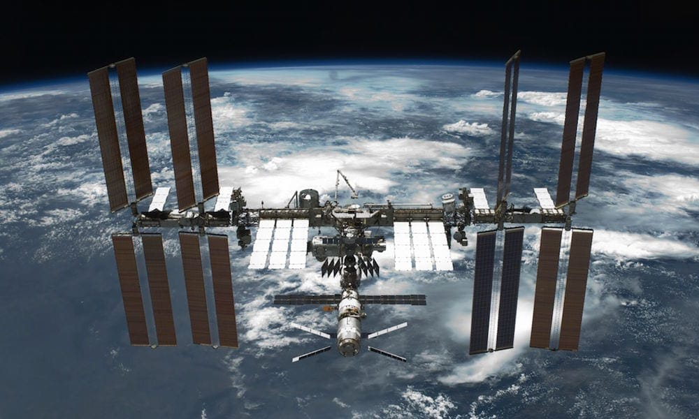 external view of the international space station