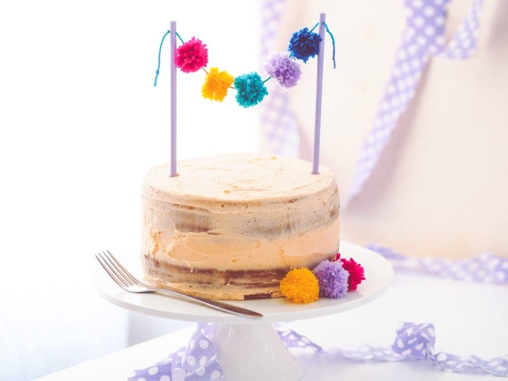 Cute and Colourful Pom Pom Cake Topper