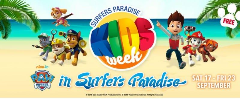 prmotional banner - Surfers Paradise Kids Week