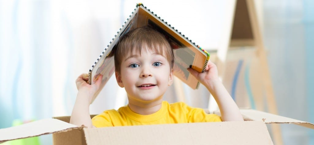 Imaginative Play: Cardboard Boxes and Wrapping Paper