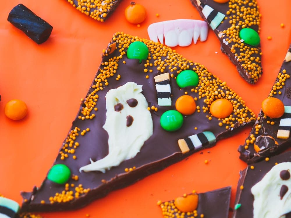 Ghastly Ghouls Chocolate Bark