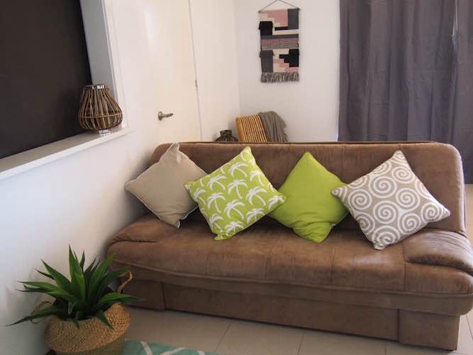 room styled with cushions