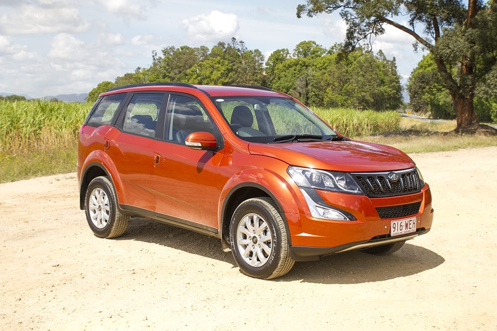 Mahindra XUV500 Review vehicle parked in front of cane fields northern NSW