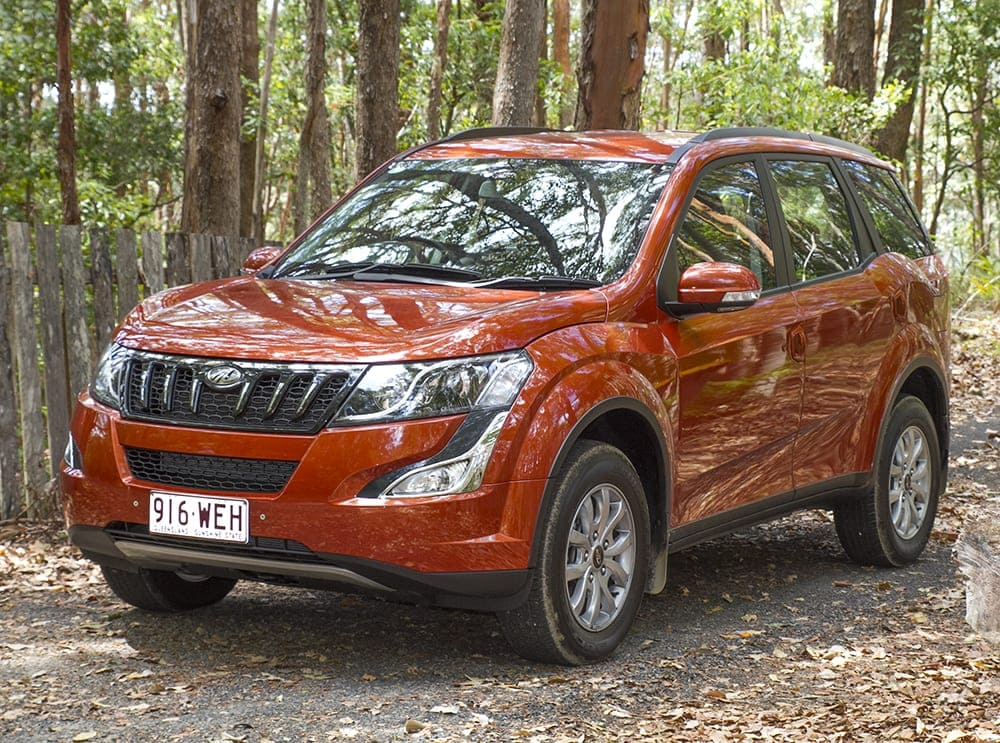 Mahindra XUV500 Review vehicle parked amongst rainforest