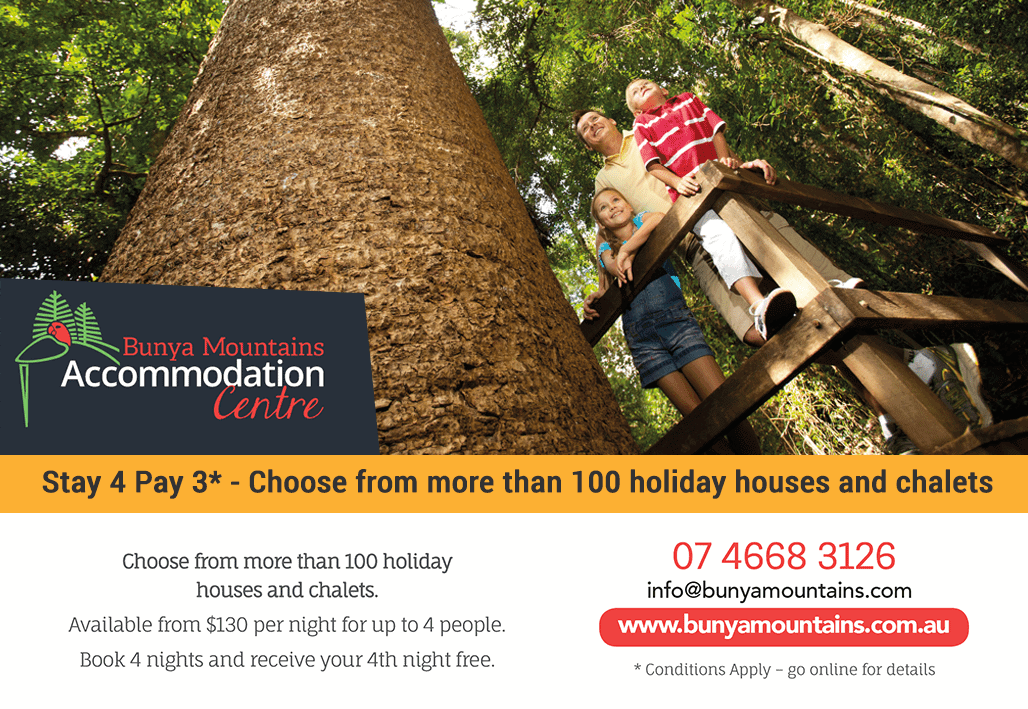 bunya mountains accommodation centre voucher image