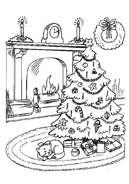 Christmas Tree Colouring in for the kids