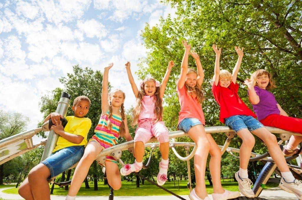 featured image, best school holidays, children on a playground