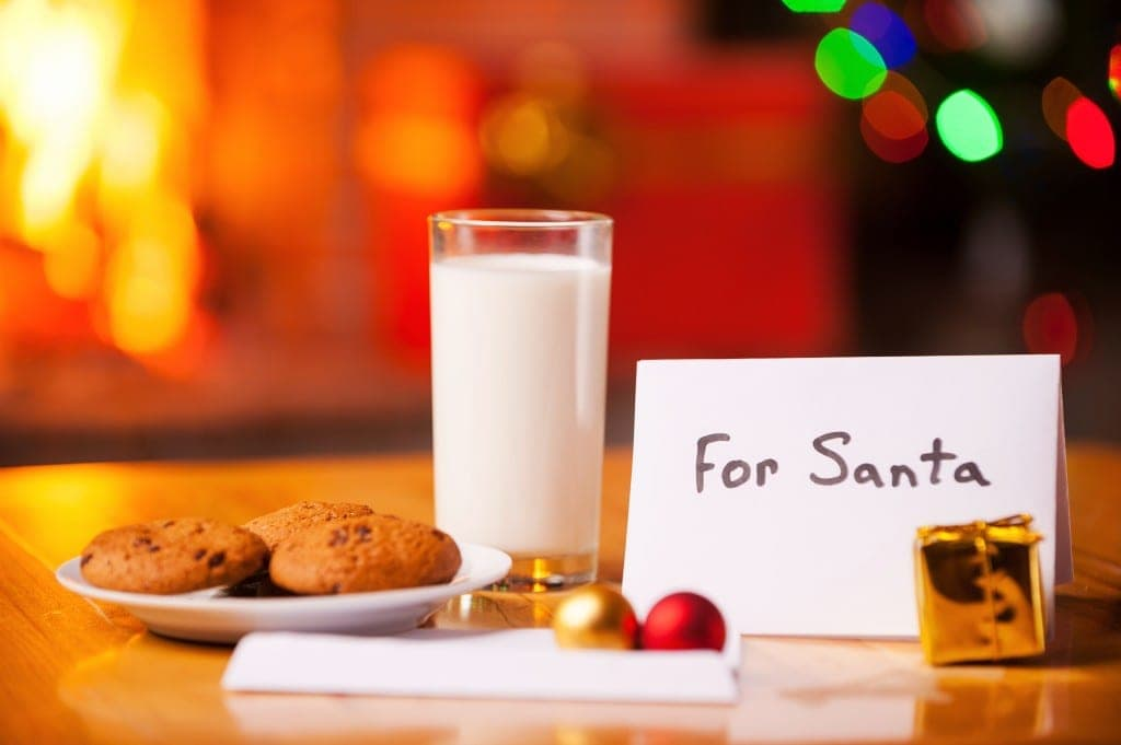truth about Santa - leaving cookies out for santa