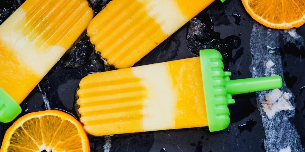 Snacks that won't ruin dinner Tropical OJ Icey Poles