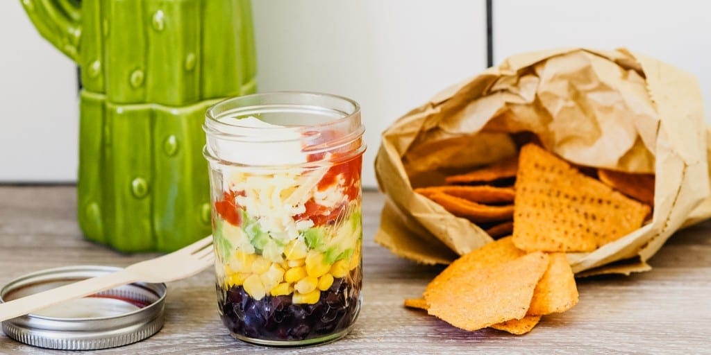 Snacks that won't ruin dinner Little Mason Jar Nachos