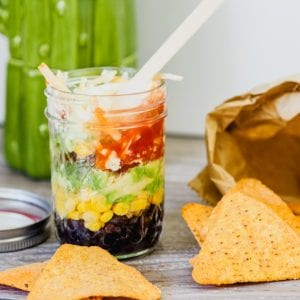 Snacks that won't ruin dinner Little Mason Jar Nachos