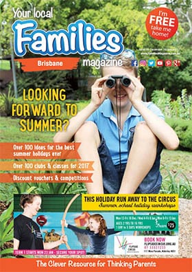 Front cover of Issue 19 of Families Magazine Brisbane