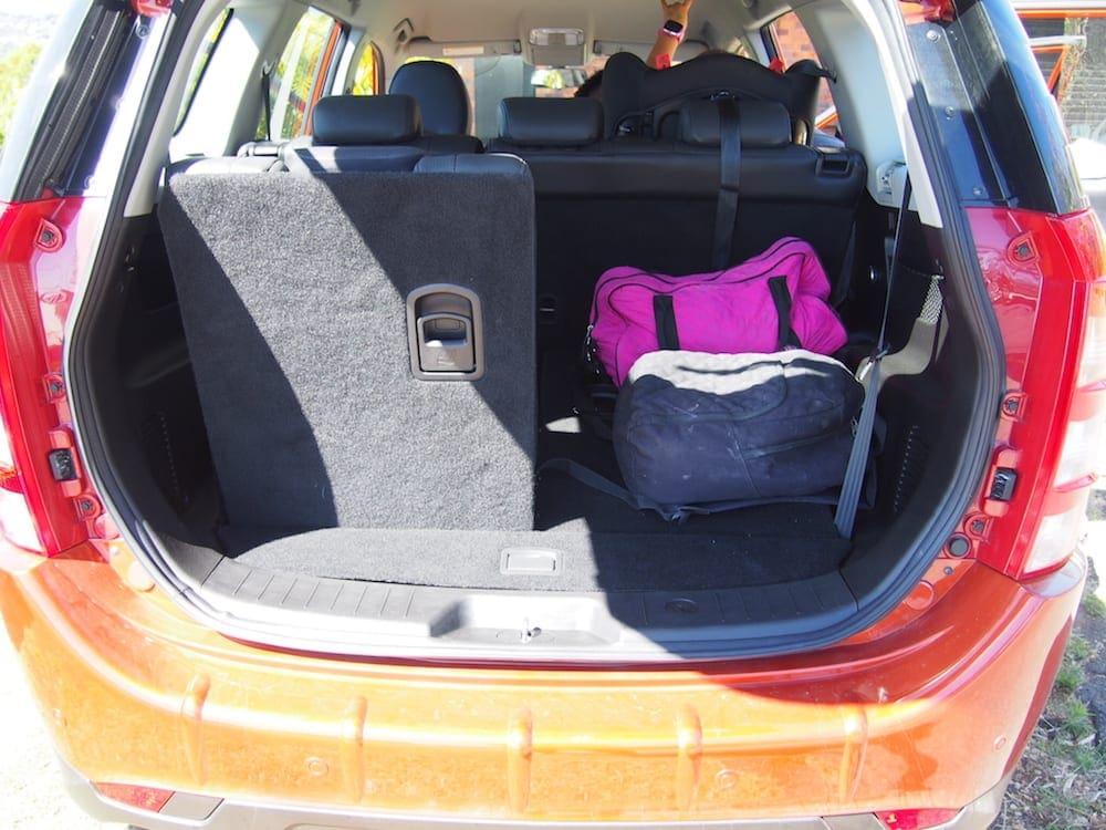 Mahindra XUV500 Review image of interior boot