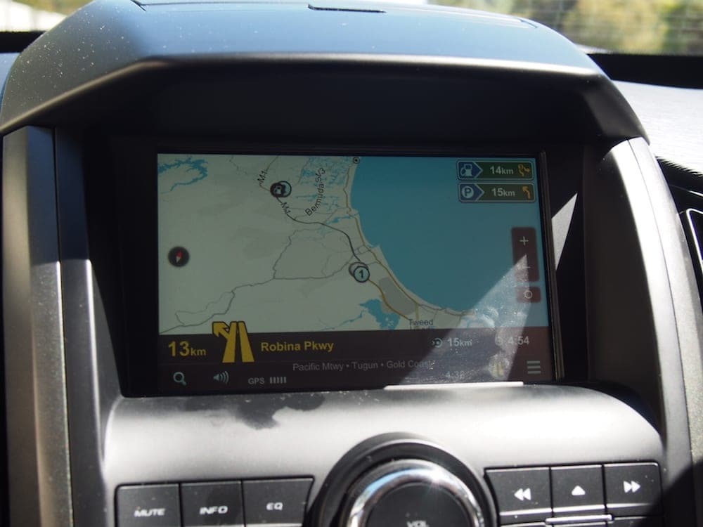 Mahindra XUV500 Review image of touch screen